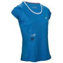 T-shirt Babolat Core Flag Lady - bleu drive