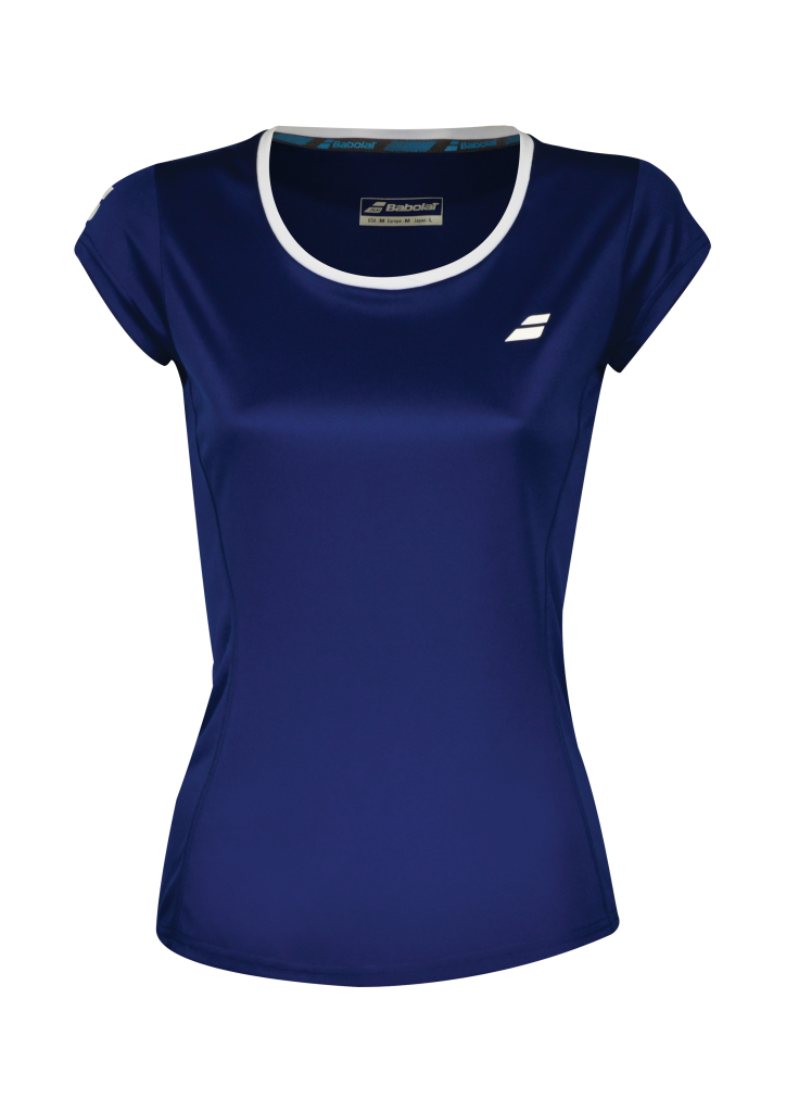 T-shirt Babolat Core Flag Lady - bleu marine