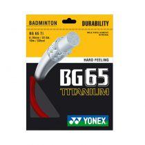 Cordage Yonex BG65 Ti rouge - 10m