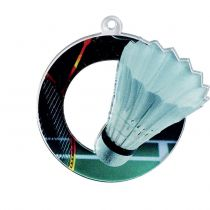 Medaille acrylique 50mm badminton