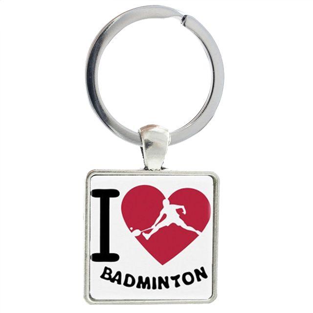 Porte-clés badminton joueur