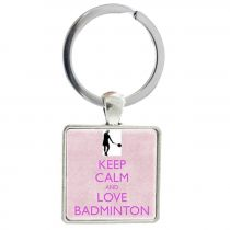 Porte-clés badminton Keep Calm