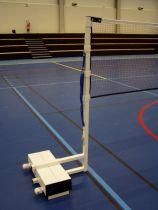 Poteaux de badminton sur embase – compétition régionale