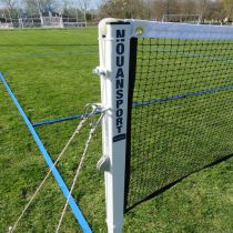 Poteaux de badminton sur gazon – acier – compétition – ffbad