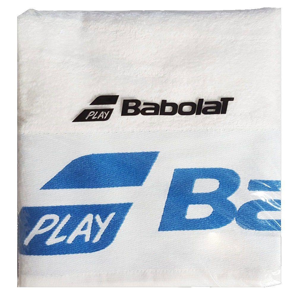 Serviette éponge Babolat - blanche/bleue