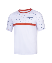 T-shirt Babolat Compete Crew Neck - blanc