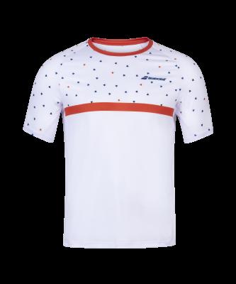T-shirt Babolat Compete Crew Neck - blanc