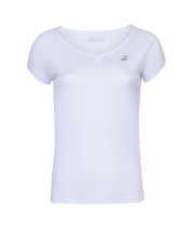 T-shirt Babolat Play Cap Sleeve Girl - blanc
