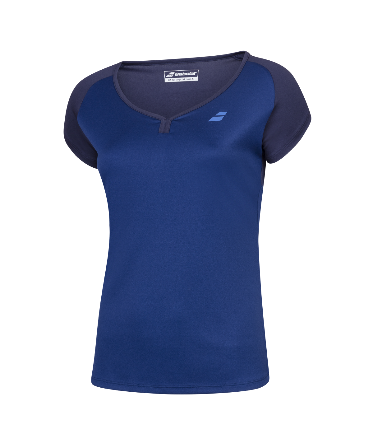 T-shirt Babolat Play Cap Sleeve Girl - bleu marine