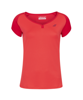 T-shirt Babolat Play Cap Sleeve Girl - rouge