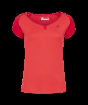 T-shirt Babolat Play Cap Sleeve Girl - rouge