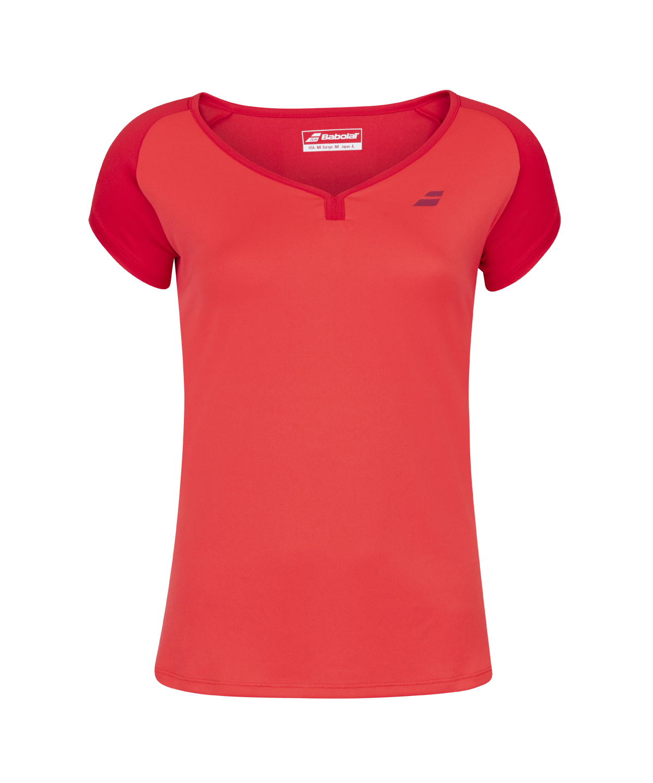 T-shirt Babolat Play Cap Sleeve Women - rouge