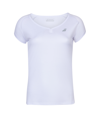 T-shirt Babolat Play Cap Sleeve Women- blanc