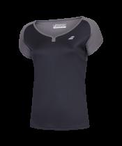 T-shirt Babolat Play Cap Sleeve Women- noir