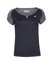 T-shirt Babolat Play Cap Sleeve Women- noir