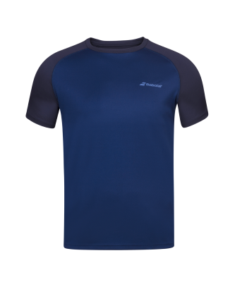 T-shirt Babolat Play Crew Neck Boy - bleu marine