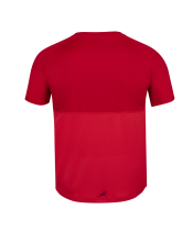 T-shirt Babolat Play Crew Neck Boy - rouge